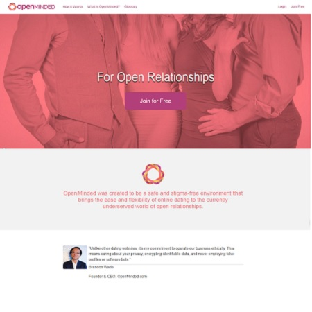OpenMinded, free poly dating site